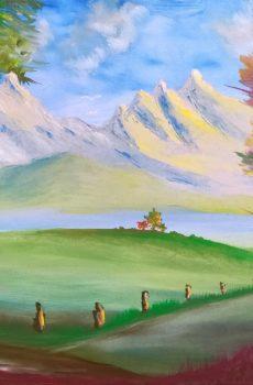 Primavera Fiorita dell'artista Andrea Costa di Auronzo di Cadore