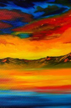 La Valle della Morte del pittore Auronzano Andrea Costa